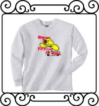 Big brother fire crew ash gray long sleeve shirt