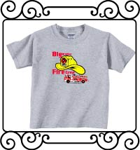 Big brother fire crew ash gray short sleeve shirt