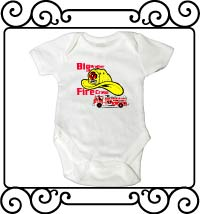 Big brother fire crew white short sleeve bodysuit