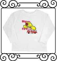 Big brother fire crew white long sleeve shirt