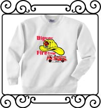 Big brother fire crew white sweatshirt