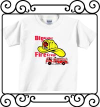 Big brother fire crew white short sleeve shirt