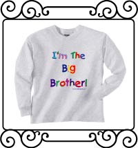 I'm the big brother ash gray long sleeve t-shirt