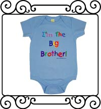 I'm the big brother light blue short sleeve bodysuit
