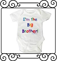 I'm the big brother white short sleeve bodysuit