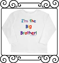 I'm the big brother white long sleeve tshirt