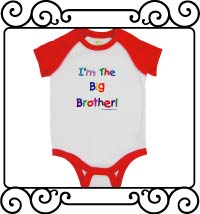 I'm the big brother white with red raglan bodysuit