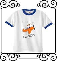 Being a big brother is so much fun white with blue ringer t-shirt