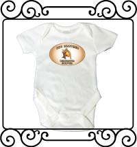 Big brother dinosaur hunter white short sleeve bodysuit