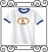 Big brother dinosaur hunter white with blue ringer t-shirt