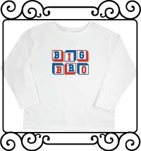 Personalized Big bro white long sleeve shirt