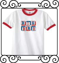 Personalized Big bro white with red ringer tee shirt