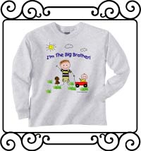 I'm the big brother ash gray long sleeve tshirt