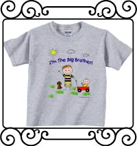I'm the big brother ash gray short sleeve shirt
