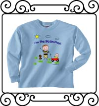 I'm the big brother light blue long sleeve tee shirt