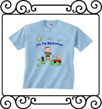 I'm the big brother light blue short sleeve tee shirt