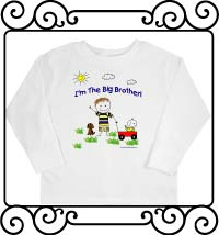 I'm the big brother white long sleeve t-shirt