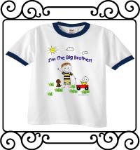 I'm the big brother white with navy ringer tshirt