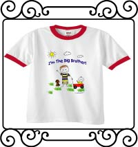 I'm the big brother white with red ringer tee shirt