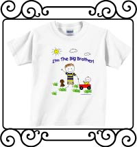 I'm the big brother white short sleeve shirt