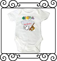 All-star big brother white short sleeve bodysuit