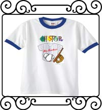 All-star big brother white with blue ringer t-shirt