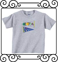 All-star big brother pennant ash gray short sleeve shirts