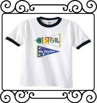 All-star big brother pennant white with navy ringer t-shirts