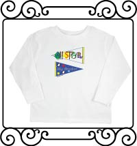 All-star big brother pennant white long sleeve shirts