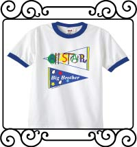 All-star big brother pennant white with blue ringer t shirts