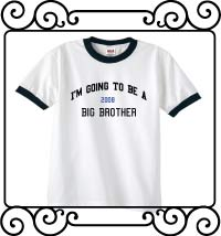 I'm going to be a big brother white with navy ringer t shirt