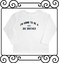 I'm going to be a big brother white long sleeve shirt