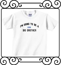 I'm going to be a big brother white short sleeve t shirt
