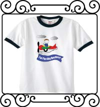 I'm the big brother airplane white with navy ringer t shirt