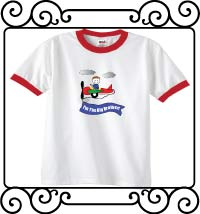 I'm the big brother airplane white with red ringer tee shirt