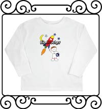 Big brother astronaut white long sleeve t shirt