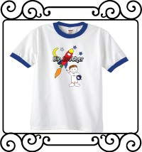 Big brother astronaut white with blue ringer shirt