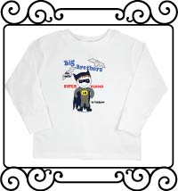 Batman - Big brothers are super heroes in disguise white long sleeve shirt