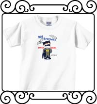 Batman - Big brothers are super heroes in disguise white short sleeve t shirt