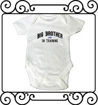 Big brother in training white short sleeve bodysuit