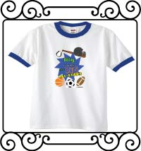 Biggest brothers are big all-stars sports white with blue ringer tshirt
