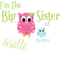 Matching I'm the big sister / little brother t shirts, onesies, bodysuit, sweatshirts, and bibs.