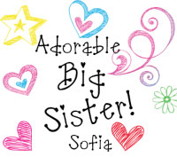 Matching adorable big sister - adorable little sister - Adorable baby sister - adorable middle sister - adorable biggest sister tee shirts, onesies, sweatshirts, bibs and sweatshirts.