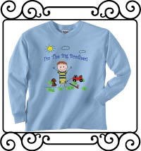 I'm the big brother light blue long sleeve shirt