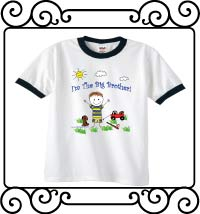 I'm the big brother white with navy ringer t-shirt