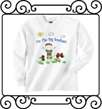 I'm the big brother white long sleeve shirt