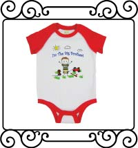 I'm the big brother white with red reglan bodysuit