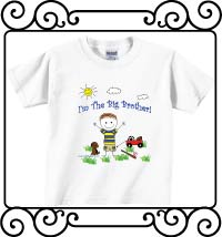 I'm the big brother white short sleeve tee shirt