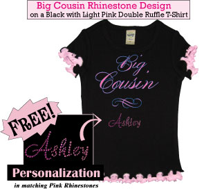 Big Cousin Rhinestone Tee Shirt