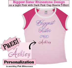 Biggest Sister Rhinestone T-Shirt